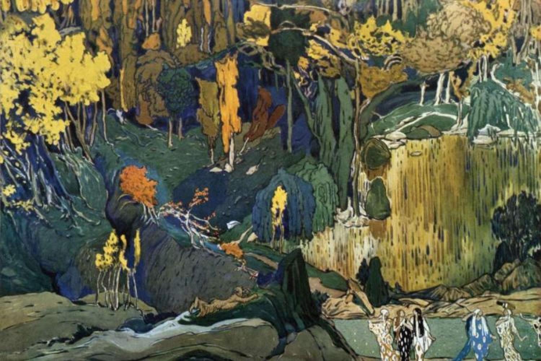 Fondale per L'Après-midi d'un faune, 1912