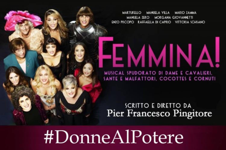 Da Pier Francesco Pingitore una campagna social per il debutto di Femmina