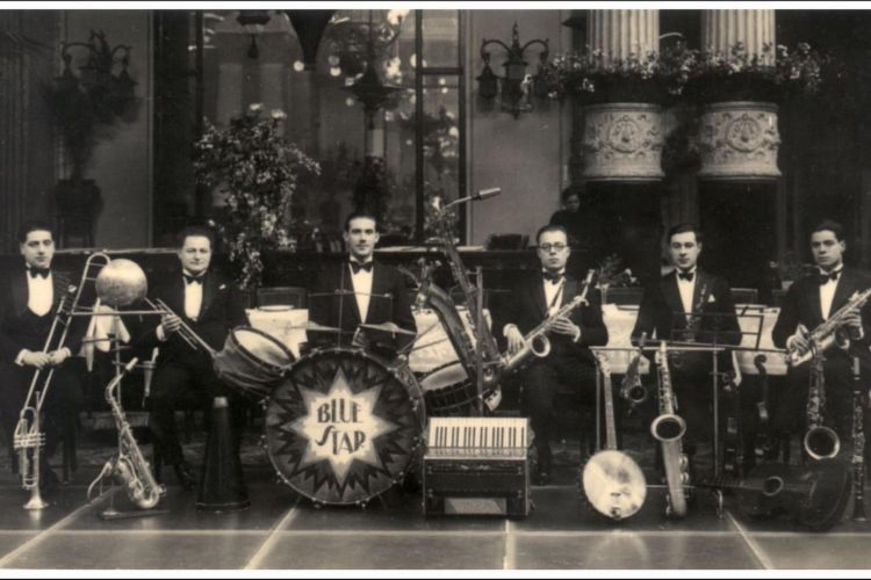 La Blue Star Orchestra con Pippo Barzizza al sax, 1925