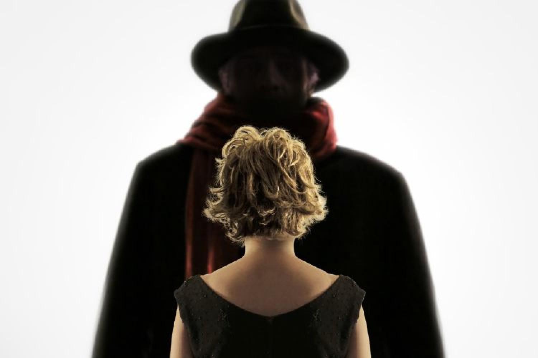 Caterina Gramaglia e Giulio Forges Davanzati in scena con il Processo a Fellini