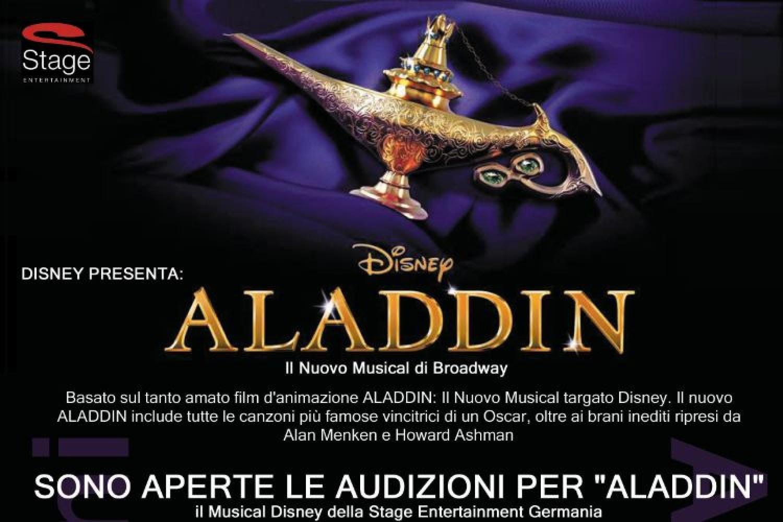Audizioni internazionali per il musical ALADDIN