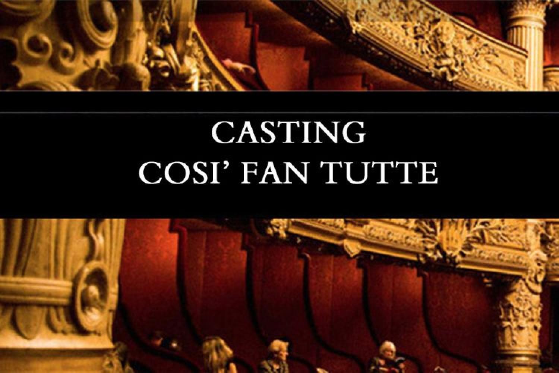"""Teatro Bellini di Napoli: audizioni per nuova produzione """"Così fan tutte"""""""