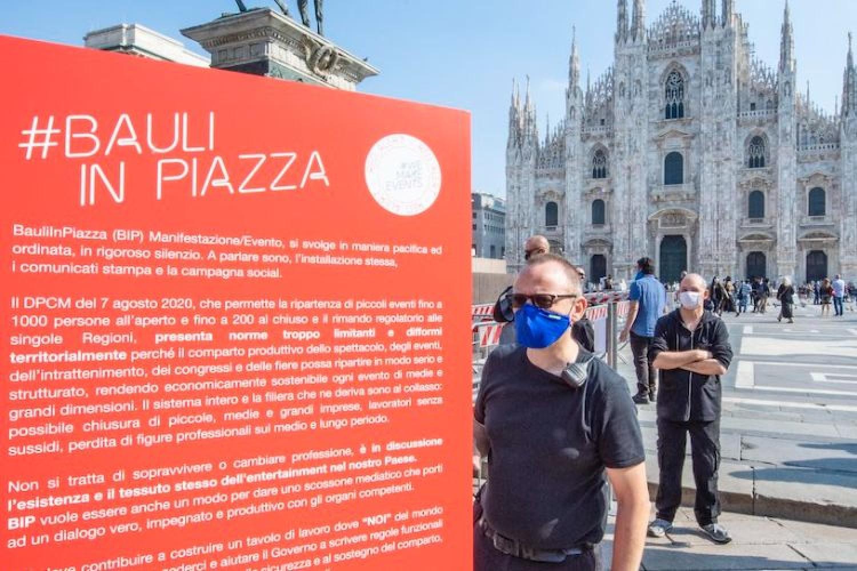 """'Bauli in Piazza', gli organizzatori: """"Siamo in 570mila a casa, senza lavoro da febbraio"""""""