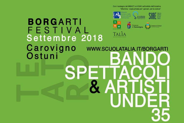 Festival BorgArti: bando spettacoli e artisti under 35