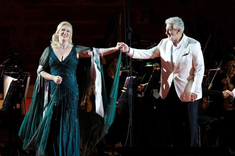 Plácido Domingo eSaioa Hernández, rispettata la tradizione all'Arena di Verona