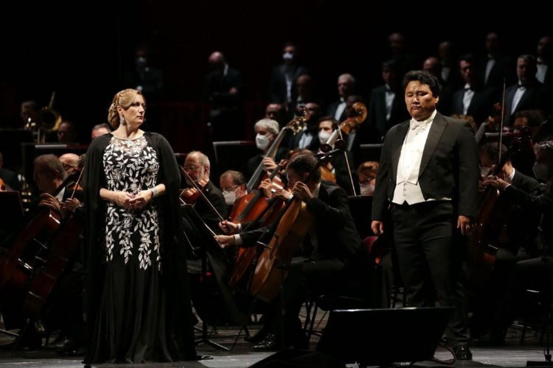 Trionfale Aida in forma di concerto alla Scala