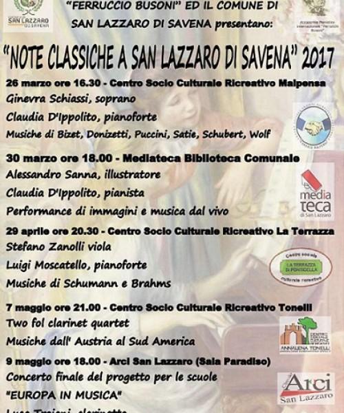 ''Note Classiche a San Lazzaro di Savena 2017'' Rassegna Primaverile