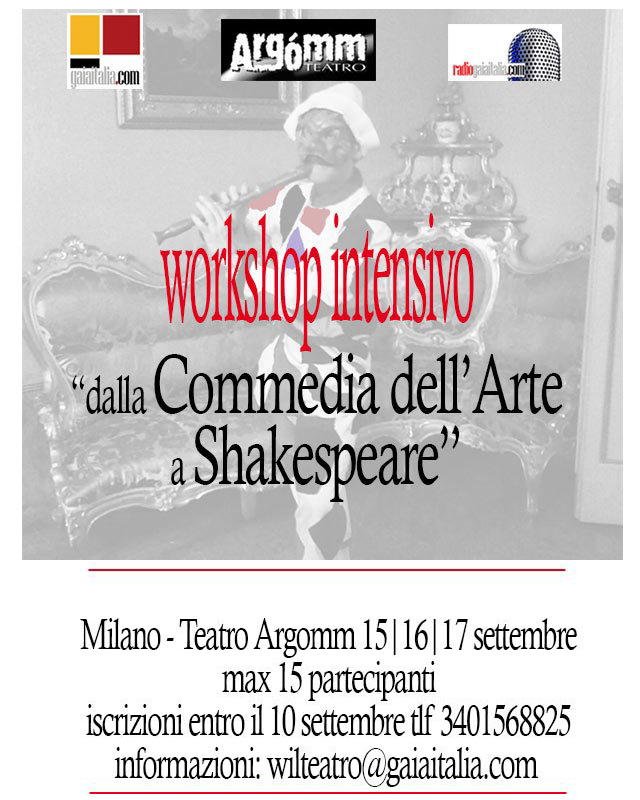 DALLA COMMEDIA DELL'ARTE A SHAKESPEARE