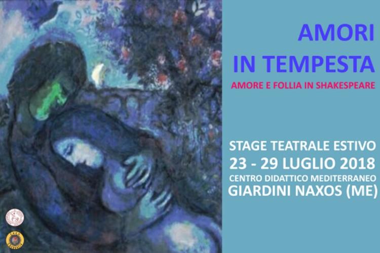 Amori in tempesta: stage estivo teatrale ai Giardini Naxos