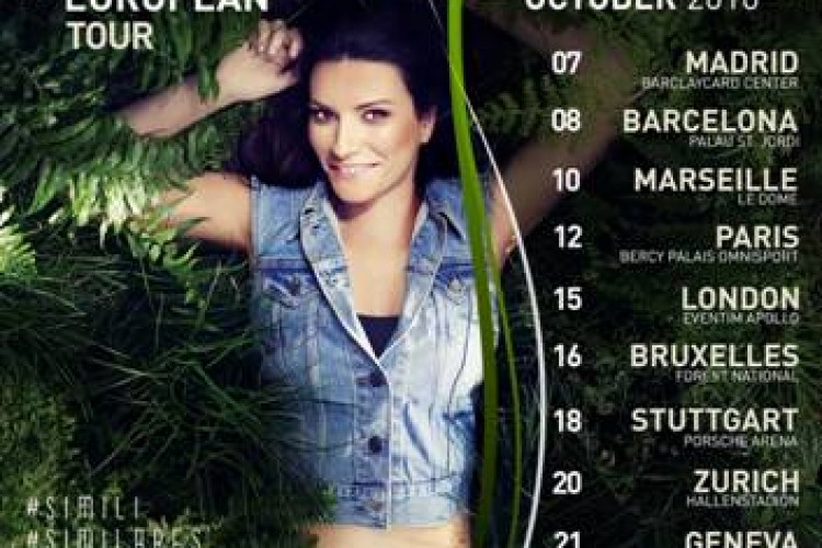Laura Pausini, le date del Simili European Tour 2016