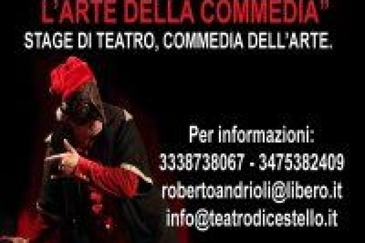 """Commediando"" STAGE DI TEATRO, COMMEDIA DELL'ARTE."