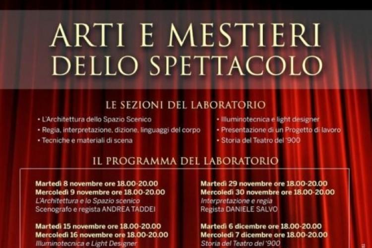 Presentazione del 'Laboratorio di Arti e Mestieri dello Spettacolo'