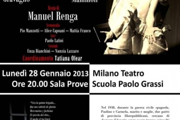 '¡Ay, Carmela!' in replica davanti a Josè Sanchis Sinisterra alla 'Paolo Grassi'