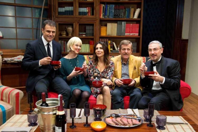 Un cena in famiglia con Sabrina Ferilli, Maurizio Micheli e Pino Quartullo