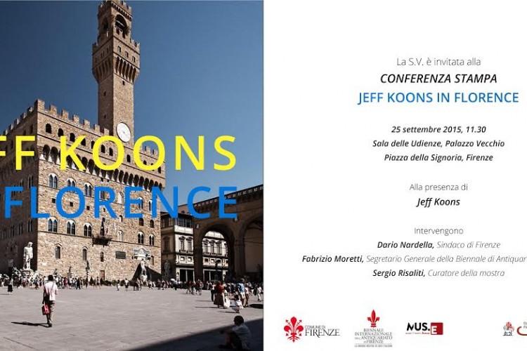 Fabrizio Moretti presenta''Jeff Koons In Florence''