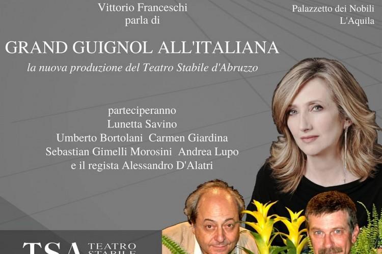 Vittorio Franceschi presenta 'Grand guignol all'italiana' a L'Aquila