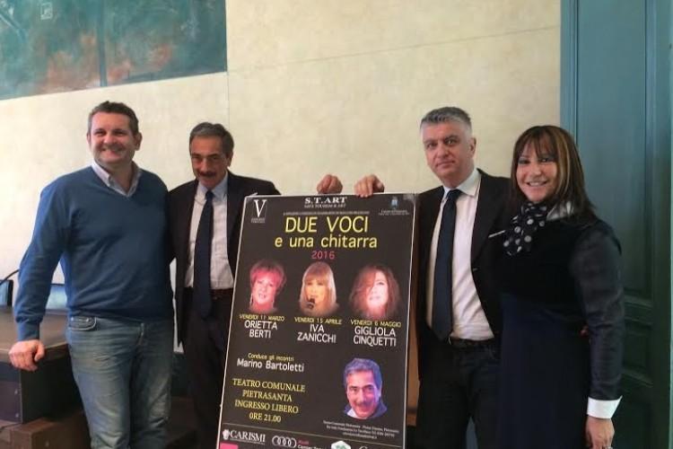 """""""Due Voci e una Chitarra"""" al Teatro Comunale di Pietrasanta"""