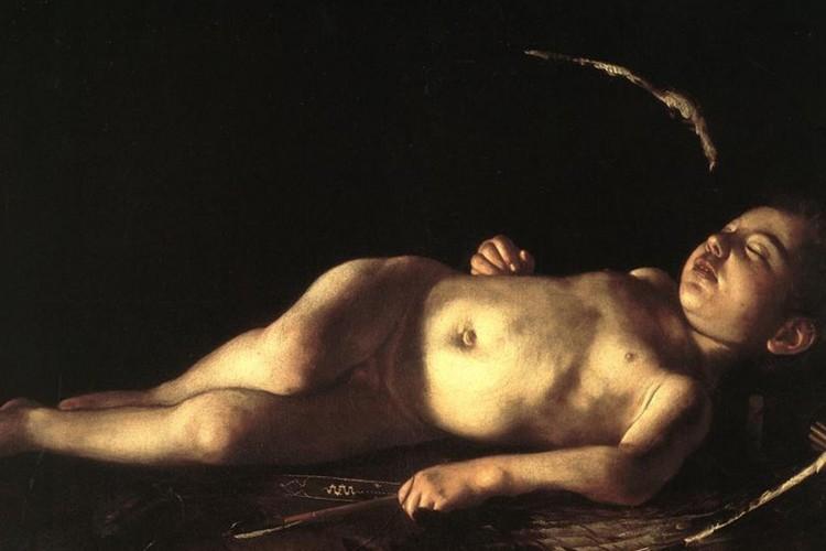 'Amorino dormiente' di Caravaggio in viaggio verso Lampedusa