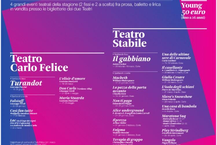 Riparte Quartetto, l'abbonamento congiunto tra lirica e prosa Genova